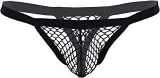 Alvivi Men's Sexy Fishnet Sheer See Through Low Rise Bugle Pouch Panties Briefs G-Strings