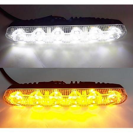 2 X Led Drl Tfl Tagfahrlicht 12 V Leuchten Mit Integrierter Blinker Indikatoren Für Car Suv 4 X 4 Van Auto
