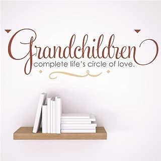 Design with Vinyl RAD 42 1 Decor Wall Decal Sticker : Grandchildren Complete Life's Circle of Love Quote, 5 x 24