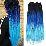 Ombre Box Braids Crochet Hair Crochet Braids Box Braiding Synthetic Hair Extension 24inch (5 packs/order)