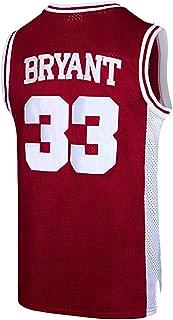 Sportula #33 Bryant Mens Kobe Basketball Retro Athletics Jersey Movie Jersey