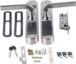 Slim deurslot, batterijgevoed deurslot voor huisbeveiliging, extra mechanische sleutel, voor appartementen/villa's/huizen