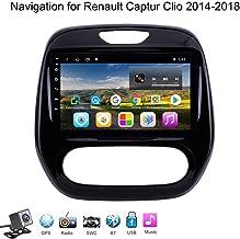 Estéreo Quad Core del Coche de Bluetooth GPS Android 8.1 9 Pulgadas LCD para Renault Captur Clio 2014-2018, Reproductor Multimedia Soporte WiFi / / Llamadas Manos Libres/Car Audio y Radio