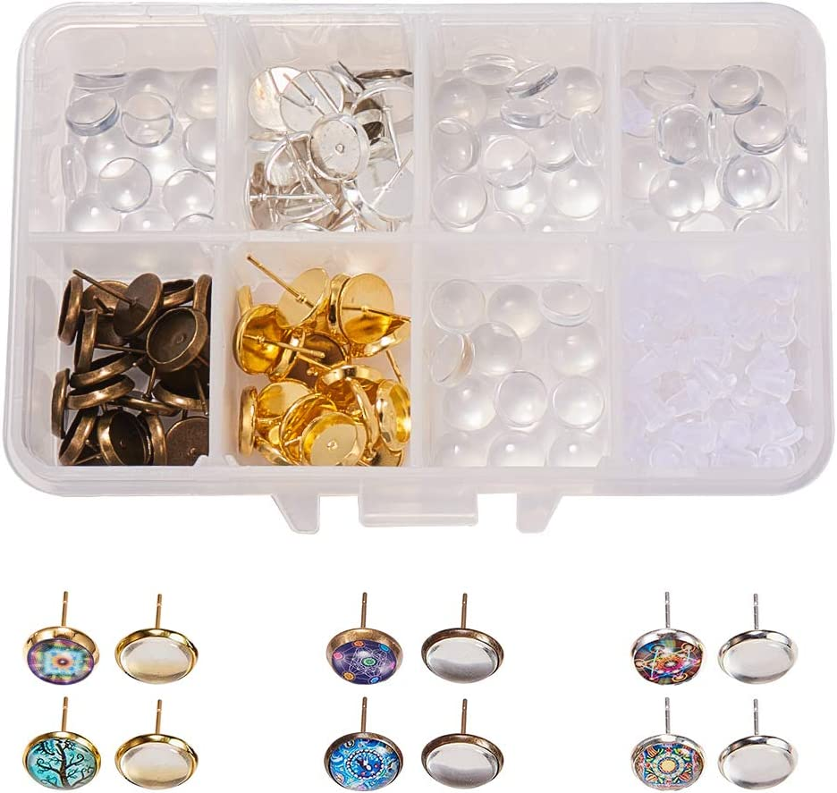 SUNNYCLUE 1 Box DIY 30 Pairs Color Cabochon 3 Challenge the Boston Mall lowest price of Japan ☆ Maki Stud Earrings