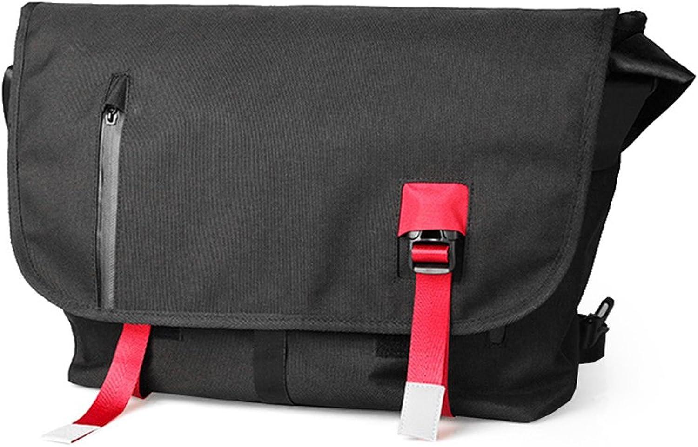 DEjh Lightweight Canvas Large Shoulder Bag Casual ShortSleeved Men's Student Bag Messenger Bag with A Variety of Styles