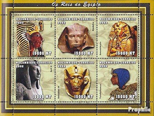 Prophila Collection Mosambik 2435-2440 Kleinbogen 2002 Altägyptische Herrscher (Briefmarken für Sammler) Kultur