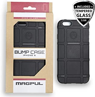 Case for iPhone 6/iPhone 6s, with TJS [Tempered Glass Screen Protector] Magpul Industries Bump MAG486 Polymer Cover Retail Packaging Compatible Apple iPhone 6/iPhone 6s 4.7