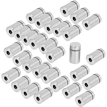 uxcell a15041500ux0339 Advertisement Fixing Screws Glass Standoff Pins 12mmx24mm Pack of 30