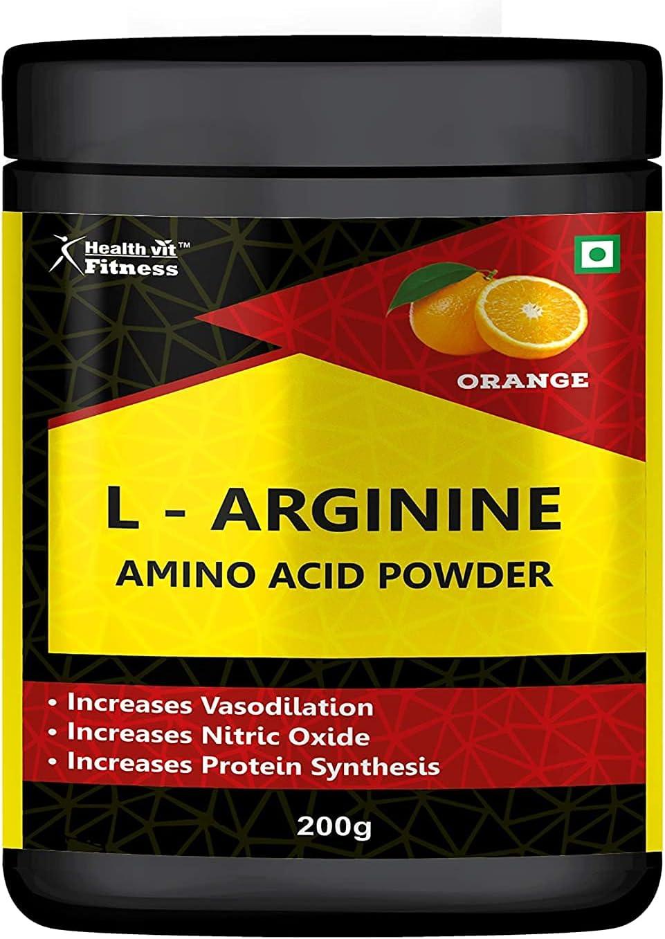 Madow Fitness All items free shipping L-Arginine Amino Store Acid Flavou 200GM - Powder Orange