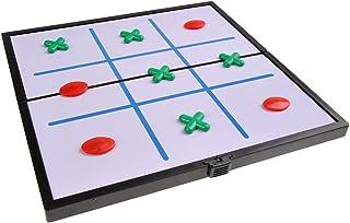 Super Mini Reise-Edition magnetische Spielsteine 12,8cm x 12,8cm x 1cm : Backgammon Quantum Abacus Magnetisches Brettspiel DE Mod SC3620 Spielbrett zusammenklappbar