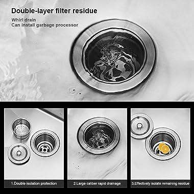 Undermount Kitchen Sink - Kichae 30 Inch Kitchen Sink Undermount Stainless Steel 18 Gauge Single Bowl Undermount Sink with Ba