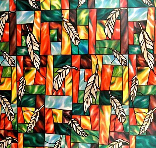 LMKJ Película de Ventana laminada estática PVC patrón de Plumas protección de privacidad Opaco Impermeable Etiqueta de Vidrio para el hogar A60 45x100cm