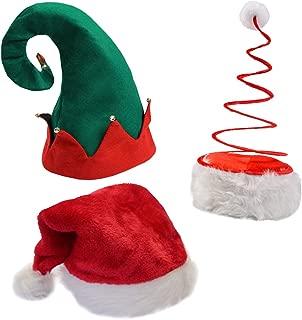 Funny Party Hats Christmas Hats - Santa Hat, Elf Hat, Coil Santa Hat
