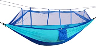MagiDeal Stable Outdoor Hammock (with Fixing Set), 1 Person Hammock With Mosquito Net Ultralight And Breathable, Parachute Nylon Hammock For Hiking, Trekking, Travel, Beach, Garden ... (260 X 140 Cm 200kg Load Capacity)