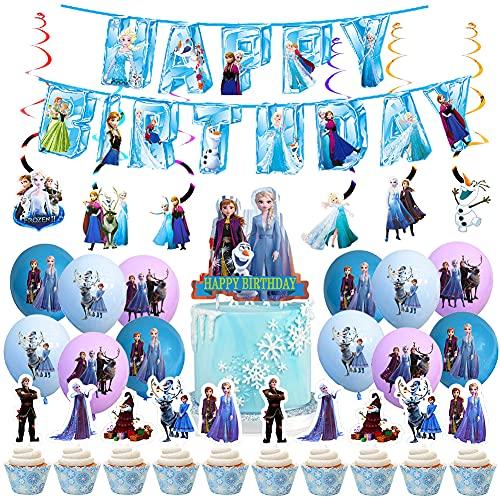 BESTZY Latex Ballon, Frozen Ballon, Decoraciones de Cumpleaños de Frozen, Frozen temática Fiesta Suministros Decoraciones para Comunion Bautizo