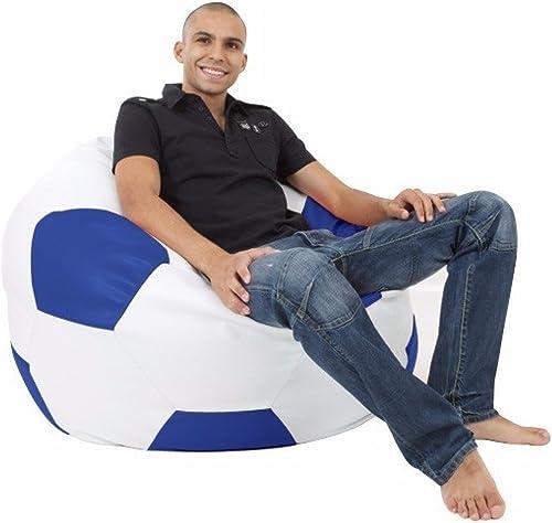 rucomfybeanbags Kunstleder Größe Fußball Bohnens chen - Königsblau