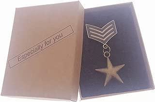 Commemorative Souvenir Badge Army Anniversary Five-Pointed Star Copper