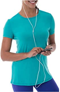 Danskin Now Women's Active Short Sleeve Performance Mesh T-Shirt (X-Large, Blue Atoll)