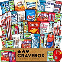DIMENSIONS: 12.5in x 9in x 3in. Gift wrapping and message available at checkout. Contents included: 1 ZeeZee's Grahams, 1 Chex Mix, 1 Famous Amos Cookies, 1 Cheez-its, 1 Goldfish, 1 PB Crackers, 1 Pringles, 1 Mini Cookies, 1 PurePop, 2 Rice Krispies,...