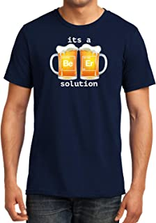 GeekDawn Graphic Printed T-Shirt|Beer is a Solution T-shirtIFunny Quote T-Shirt|Geek T-Shirt|Beer T-Shirt|Half Sleeve T-Shirt|Round Neck T-Shirt|100% Cotton T-Shirt|Gift|Gifting
