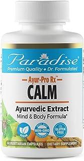 Paradise Herbs - AYUR-Pro Rx - Calm – Stress Support Formula - Ayurvedic Extract - Mind & Body Formula - 60 Count
