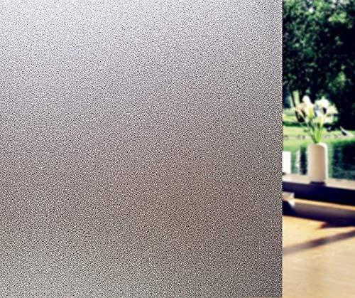 Terraberk Adhesivo de Vidrio Adhesivo estático Esmerilado, película Decorativa de - Pack: Los 45x300cm