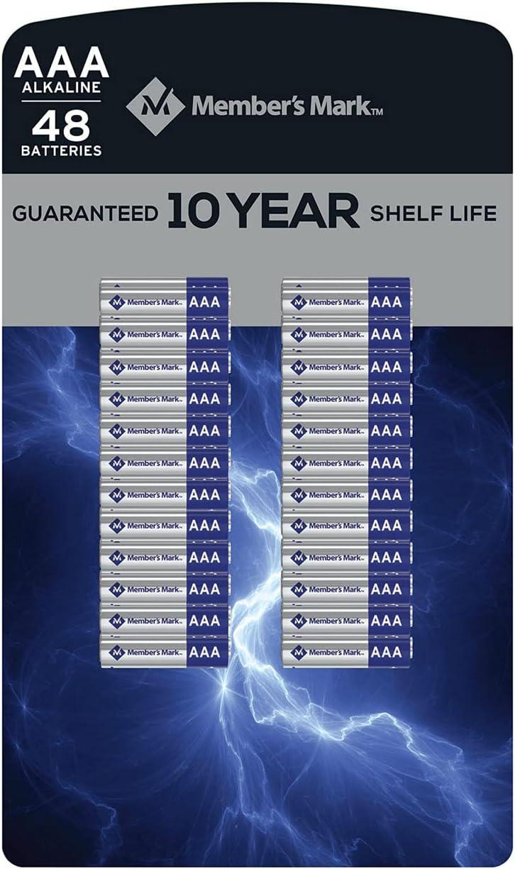 Member's Mark Alkaline 限定特価 AAA Batteries 48 新作通販 Pack