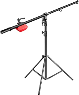 Neewer Pro Lamp Boom Stand Max Height 71 inches/180 centimeters with 88 inches/224 centimeters Holding Arm, 8.8 pounds/4 kilograms Counter Weight for Monolight Strobe Light Ring Light Softbox and More