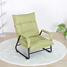 Sofa Chair Leisure Balcony Armchair Foldable Folding Lazy Sofa Bedroom Living Room Lounge Chair for Reading, Relaxing (Col...