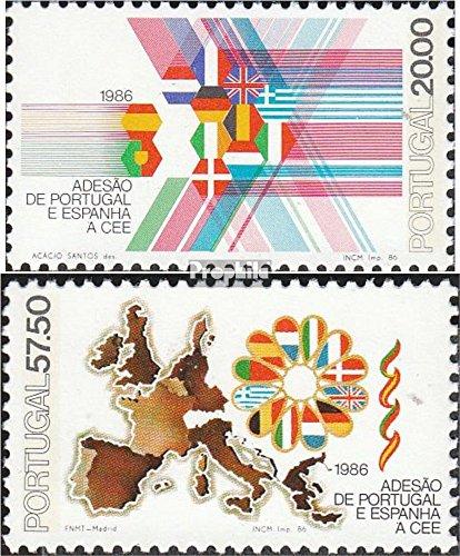 Prophila Collection Portogallo Michel.-No..: 1677-1678 (Completa Edizione) 1986 Comunità Europea (Francobolli per i Collezionisti)