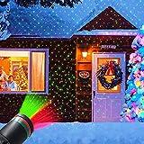 Christmas Outdoor Laser Light Projector, LED Landscape Spotlight Projectors Lawn Lanp Light Outdoor Waterproof Star Laser Lamp Show, Ornament for Yard Garden Christmas Holidays Decorations