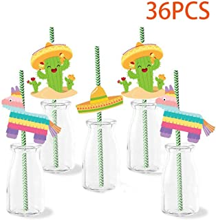 Fiesta Paper Straws - 36Ct Mexican Wedding Birthday Party Supplies Decorations