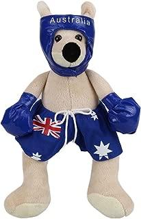 RealAus Stuffed Animal Souvenir Boxing Kangaroo Blue Small 11