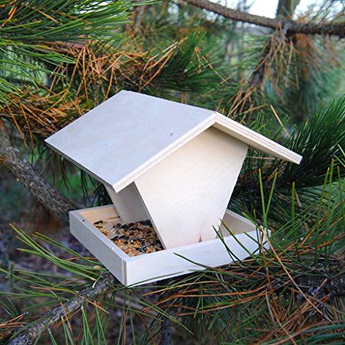 Vogelhaus-Bausatz aus Holz, Futterstelle zum Aufhängen, Futterhaus | Wiemann Lehrmittel