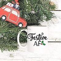 彼女の休日のためのクリスマスコーヒーマグお祝いマグギフトコーヒーマグ食器洗い機安全なマグカップクリスマスコーヒーカップクリスマスギフトホリデー