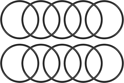 uxcell Nitrile Rubber O-Rings 48mm OD 44mm ID 2mm Width, Metric Buna-N Sealing Gasket, Pack of 10
