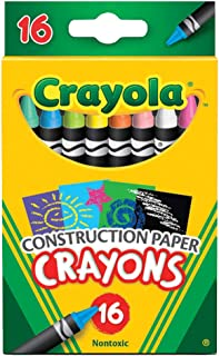 Crayola Construction Paper Crayons, Assorted Colors, Set of 16
