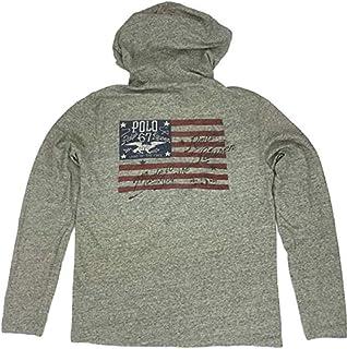 c0c32b64 Polo Ralph Lauren Men's Screened US Flag Inspire Hoodie Long Sleeve T-Shirt