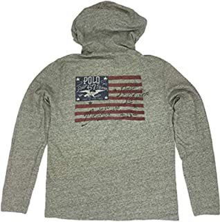 Polo Ralph Lauren Men's Screened US Flag Inspire Hoodie Long Sleeve T-Shirt