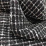 Tweed Jackie Stoff mit silbernen Fäden – 100% Polyester