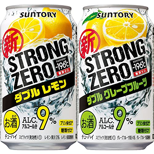 【糖類ゼロ プリン体ゼロセット】 -196℃ダブルレモン350ml × -196℃ダブルグレープフルーツ350ml