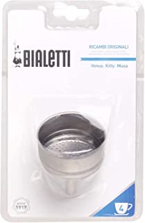 Bialetti 0800502 STD Funnel 4 Cups Stainless Steel 12 x 8 x 19 cm