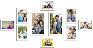 Art Street Set of 10 Individual White Wall Photo Frames Wall Decor Free Hanging Accessories Included ||Mix Size||2 Unit 4x...