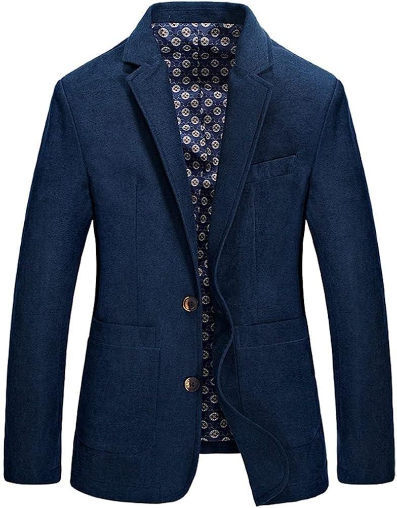 YFQHDD Men's Jackets Men's Casual Blazer Fashion Male Fit Slim Jacket Coat Men Blazer 3XL (Color : Blue, Size : M code)