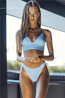 SIYIHENGJUN New Womens Bikini Set Padded Bandage Top Triangle Swimsuit Summer Beachwear