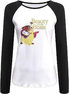 Womens Beauty And The Beast Long Sleeve Raglan Baseball Tshirt