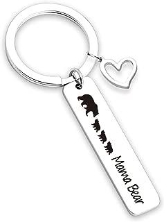 Mama Bear Bracelet Keychain Sweet Family Personalized Mama Bear Jewelry for Mother Wife Grandma