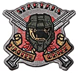 HALO Spartans Master Chief Logo 3 1/4' Tall Embroidered...