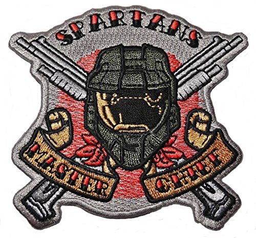 HALO Spartans Master Chief Logo 3 1/4' Tall Embroidered PATCH