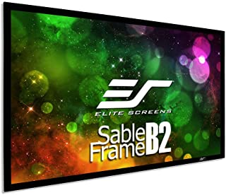 Elite Screens Sable Frame B2, 100-inch Diag. 16:9, Active 3D / 4K Ultra HD Fixed Frame Home Theater Projection Projector S...